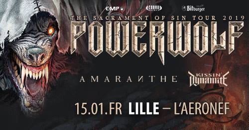 Powerwolf, Amaranthe, Kissin'dynamite